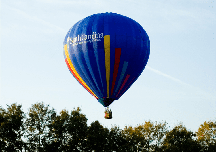 Hot air balloons in Greenville