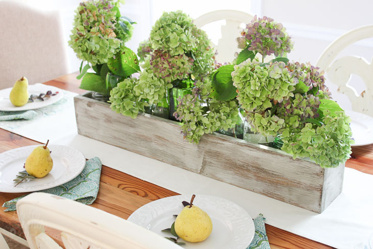 DIY Trough Centerpiece