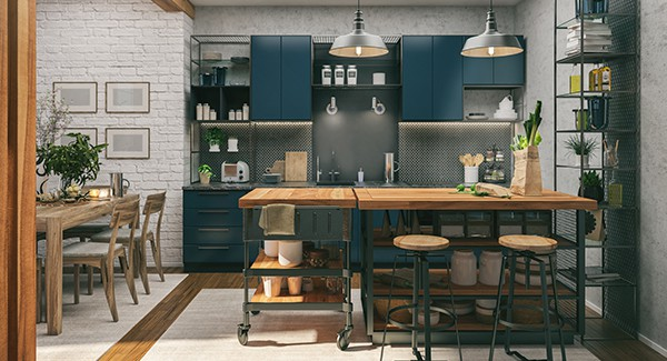 Move over white kitchens, color is here to stay